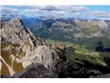 Creton di Tul (2287) in Creta Forata (2462)Pogled na Monte Sierra in v dolino Sappada