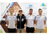 Športni plezalci v boj za svetovna odličja...Anže Peharc, Domen Škofic, Jernej Kruder in Gregor Vezonik (foto Manca Ogrin).