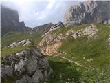Monte Peralba (2694)proti koči Calvi