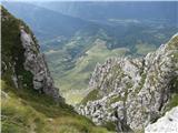Batognicain preči strma pobočja - v dolini planina Kuhinja