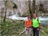 Škocjanske jamekjer Reka prvič ponikne
