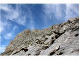 Monte Peralba (2694)lažje nadaljevanje proti vrhu