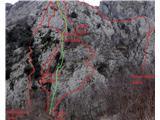 Podraška tura na Vipavskem, Nikolajeva smer IV/II-III 375mPrva polovica smeri
