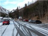 Prelaz Ljubelj (koča)Nov sneg na Ljubelju