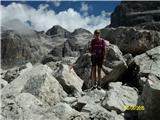 FERRATA SOSAT-Dolomiti di Brentamed skalnimi balvani