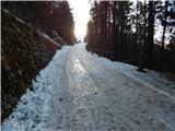 Prelaz Ljubelj (koča)Višje je cesta ledena