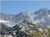 Kalška goramožic na vrhu, nad njim Štruca