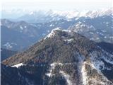 Matkova kopaGoli vrh 1787 z Jenkovo planino, desno nad njim Virnikov  Grintovec.