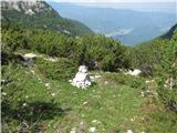 Vogel-Šija-Rodicapriključek na označeno pot s planine Suha