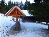 Javorca(Golte)lovska koča na Žlebiški planini