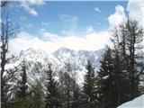 Goli vrh  1787 mnmno, od tu naprej se pa vreme začne spreminjati