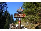 Planinske koče- Pot je lepo označena iz več smeri..