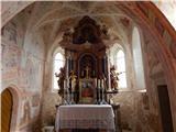 Sv. Peter nad BegunjamiNotranjost cerkve