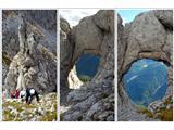 Creton di Tul (2287) in Creta Forata (2462)Okno, ki je skrito in z markirane poti se ne vidi