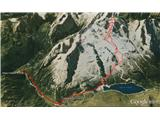 Marmolada pozimiPosnetek sledi po Google Earth.