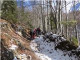 Velika planinana 1100 m prvi sneg
