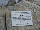 Batognicana kateri so še danes vidne posledice minske vojne iz 1. svet. vojne