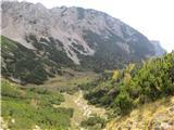 Kalški grebenproti planini Dolga njiva