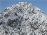 Kamniška Bistrica - Kamniško SedloMrzla gora - pozimi veliko sameva