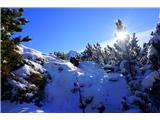 Visoki  Mavrinc-Sonček pod vrhom Mavrinca...