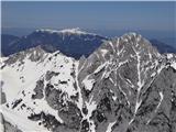 BranaZadaj Obir, spredaj Ledinski vrh in Mrzla gora