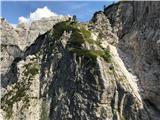 Pot Chersi / Sentiero Alpinistico Carlo ChersiSestop z drugega rajskega kotička - pogled nazaj