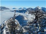 Vrh Ljubeljščice (Triangel)Razgled z vrha