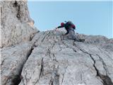 Grebensko prečenje Veliki Oltar-Visoki Rokav-Financarji(Žaga)-ŠkrlaticaPlošča pred vrhom (III)