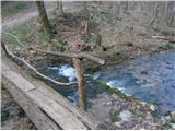 Boč...preko brvi,,aktivnega,, potoka v teh dneh...