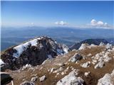 Storžič Z vrha proti nadaljevanju poti