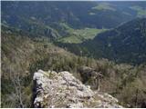 Ojstri vrh 1371mGreben se prepadno zaključi