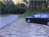 Strma peč po Via NorinaNa parkingu