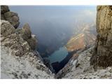 Jerebica /Cima del LagoRabeljsko jezero...celih 5 sekund sem ga videl :)