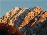 Vrh Ljubeljščice (Triangel)Včeraj zvečer