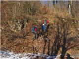 Boč - Donačka goraodcep na nemarkirano grebensko pot na vrh Boča