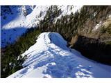 Visoki  Mavrinc- Lušten greben pred vrhom