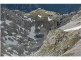 Bovški GamsovecSrednje Kriško jezero in zadaj Pogačnikov dom.....še vedno zaprt
