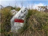 Gran Monte (Stolov greben)Odcep za zadnji del grebena je malce skrit