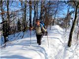 Polhograjska Grmada in Toščpo napihanemu snegu