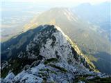 Storžič pogled na prehojeni greben