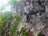 Kamnik ( 861m )izpostavljen prehod