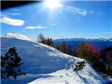 Viševnikpogled proti Bohinjskim goram