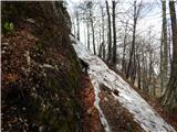Povna pečZasnežen del, zjutraj je bil sneg trd