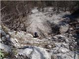 Ojstri vrh 1371mZlatko se pripravlja za plezanje