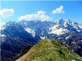 Goli vrh  1787 mnmkrasni pogledi proti najvišjim vrhovom Kamniških Alp