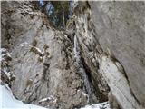 Javorca(Golte)led sem razbil kar s kamnom