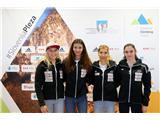 Športni plezalci v boj za svetovna odličja...Janja Garnbret, Lučka Rakovec, Mina Markovič in Mia Krampl (foto Manca Ogrin).