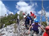 Ojstri vrh 1371mutrinek med sestopom z Ojstrega vrha