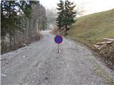 KofcePrometni znak sredi ceste