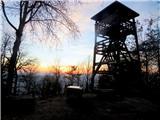 Debenji vrhrazgledni stolp na vrhu Debenjega vrha